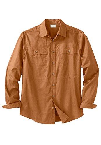 Boulder Creek Men's Big & Tall Sportsman Shirt, Cayenne Big-5Xl