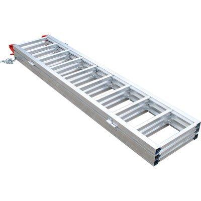 Ultra-Tow Tri-Fold Aluminum Ramp - 1,500-Lb. Capacity, 77in.L x 50in.W x 2in.H by Ultra-Tow