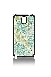 Elegant Cyan Florals Pattern Custom Hard Plastic back Phones Case for Samsung Galaxy Note3 n900 - Galaxy Note 3 Case Cover