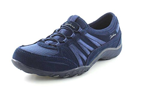 Fit Women's Moneybag Breathe Relaxed Blue Skechers Navy Easy Sneaker fRq6wfE