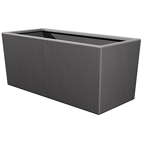 Pride Garden Products Toscana 14 in. L x 39 in. W x 24 in. H Smoke Plastic Rectangle Patio Planter by Pride Garden Products (Image #1)'