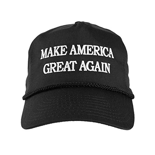 Donald Trump 2016 Make America Great Again Embroidered Rope Hat-Black (Embroidered T-shirt Hat)