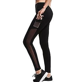 Women Leggings Gillberry Women Sports Trousers Athletic Gym Workout Fitness Yoga Leggings Pants For Women Black X S