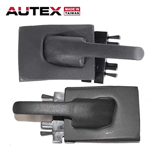 94 Ford Explorer Interior Door - AUTEX 2pcs Interior Door Handles Front/Rear Left Right Compatible with Ford Explorer,Mercury Mountaineer 1995-2001 Replacement for Ford Explorer Sport Trac 01-05 77155 77156