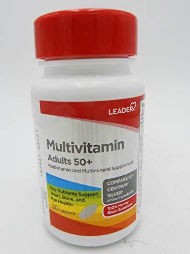 LEADER Multivitamin Adult 50+ Caplets 30 ct Pack of 1
