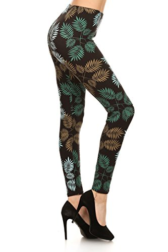 - 41FMtP7k3EL - Leggings Depot Women's Ultra Soft Printed Fashion Leggings BAT1