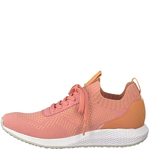 Con zapato Cordones 22 1 1 Tamaris Coral Calzado Mujer 23714 Deportivo 1OZR1qxw7