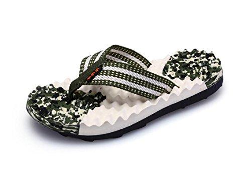 Phoenixes Non Slip Massage Beach Shoes Vacation Slipper Indoor Sandals Outdoor Flip Flops (10 D(M) US, Green)