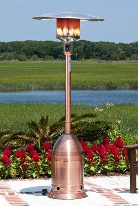 Fire Sense 60697 Copper Finish Deco Commercial Patio Heater