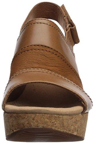 Annadel Leather CLARKS Women Janis Platform Tan Dark w6POx6f
