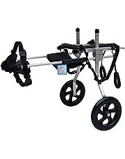 2 wielen hond rolstoel voor achterpoten, aluminiumlegering verstelbare karwielstoel voor 33 pond of meer huisdier, gehandicapte achterpoten rehabilitatie (medium/groot) (Size : L for 20-25kg)