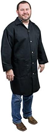 UltraSource Long Sleeve Smock/Lab Coat, Unisex, 3X-Large, Black