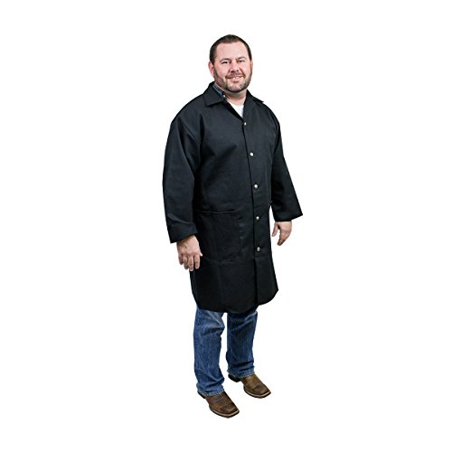 UltraSource Long Sleeve Smock/Lab Coat, Unisex, Large, Black ()