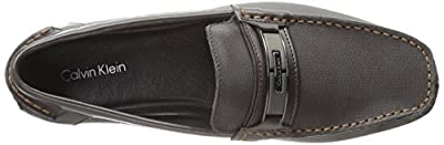 Calvin Klein Men's Mchale Diamond Leather Slip-On Loafer