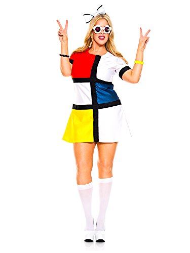 Adult Curvy 60s Mod Muse (Three Muses Costumes)