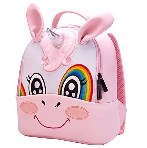 Toddler Baby Backpack 3D Waterproof Kindergarten Backpack Animal Preschool Backpack for Kids Girl Boy (Unicorn) ()