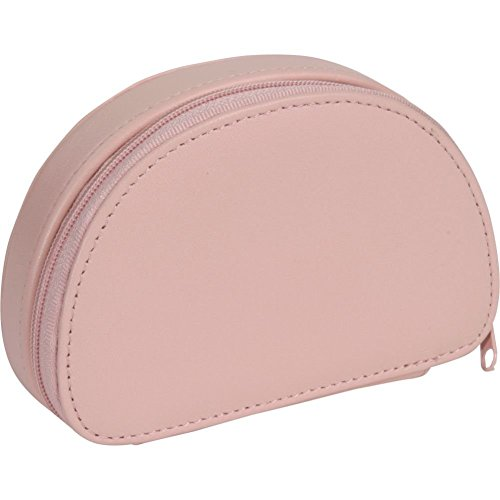 Leather Grain Traveler Case Top - Royce Leather Mini Jewelry Case - Carnation Pink