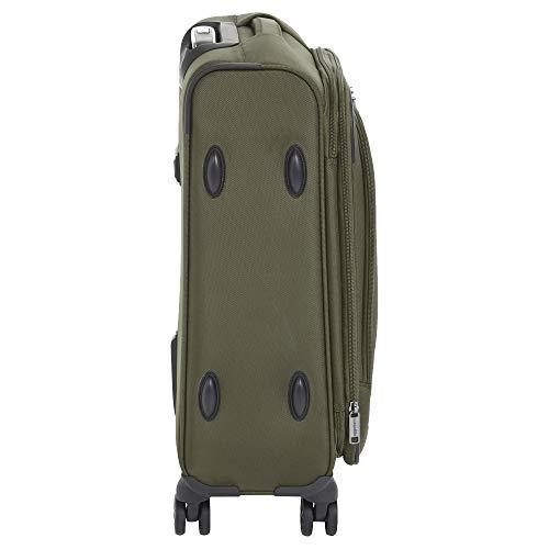 AmazonBasics Premium Expandable Softside Spinner Luggage With TSA Lock- 21 Inch, Olive
