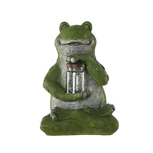 (Ivy Home Green Frog Resin Garden Statuary for Outdoor Garden Decoration)