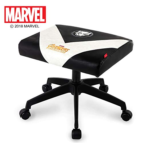NEO CHAIR Licensed Marvel Multi-Use Stool w/Wheel 1 Year Warranty : Video Game Stool Gaming Chair Stool Footstool Simple Chair Footrest Meeting Chair Swivel Height Adjustable (Black Panter)