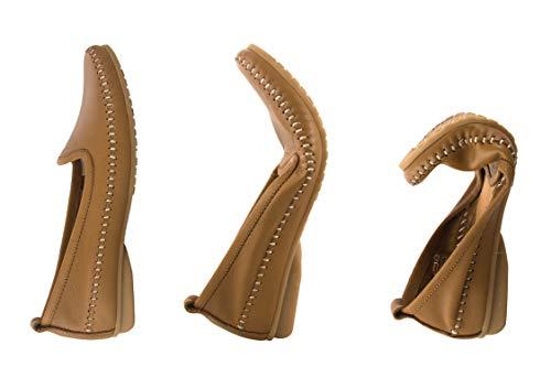 Mocassino In Scarpe Camel Confort Elegante Mocassini Confortevoli Zerimar Pelle Donna XPRqT