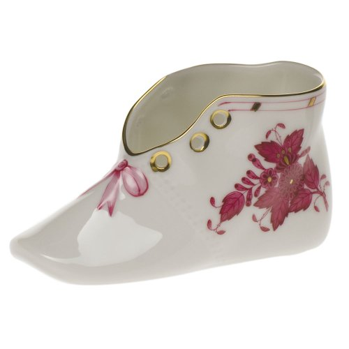 Chinese Raspberry Bouquet - Herend Chinese Bouquet Raspberry Baby Shoe Pink Bow