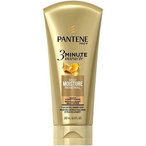 Pantene Moisture Renewal 3 Minute Miracle Deep Conditioner, 6 Fluid Ounce, Pack of 2 (Pantene 3 Minute Miracle Moisture Renewal Deep Conditioner)