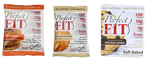 Boundless Nutrition Perfect Cookie 3 Flavor Variety Pack (Pack of 6)