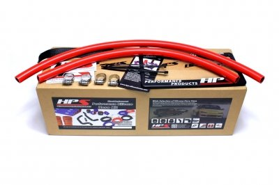 HPS 57-1335-RED XJ Silicone Heater Coolant Hose Kit