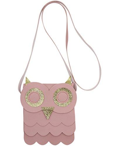 CC-US Cute Owl Crossbody Shoulder Bag Satchel Glitter Handbag Purse for Kids Girls