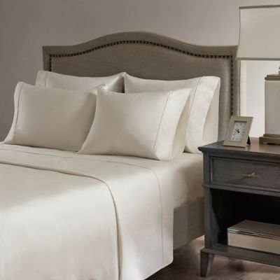 100/% Egyptian Cotton Bedding Items Quality 1000TC US Sizes Ivory Stripe
