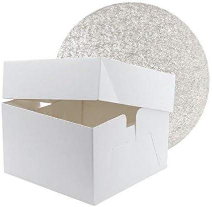 Caja cuadrada para tartas de 30 cm con tambor redondo para tartas ...