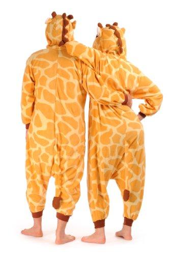 Happy Giraffe - Unisex Onesies, Fun Party Wear For Him Or Her - Arancione Monopezzi Taglia Unica (32-44)