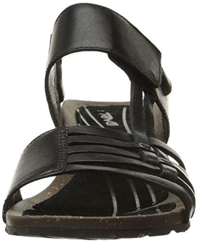 Teva Damen Cabrillo 3 Wedge Sandale Schwarz
