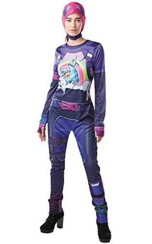 Rubie's Fortnite Brite Bomber Adult Costume Top & Cap - Medium Purple