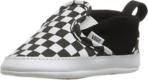 Vans Infant Checker Slip-On Black/True White Crib Size 4 -