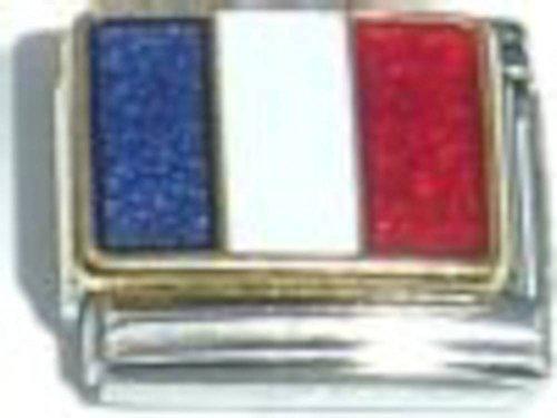 Flag Of France Italian Charm