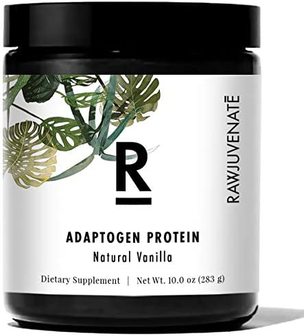 RAWJUVENATE Adaptogen Protein for Stress Relief, Vanilla, 10 oz