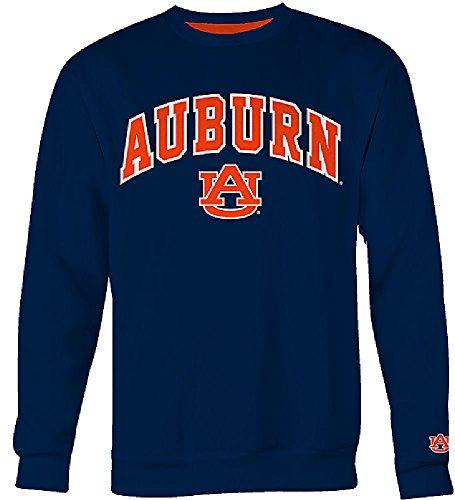 Classic Crew Embroidered Sweatshirt - Auburn Tigers Mens Blue Embroidered College Classic Crewneck Sweatshirt (L=44)