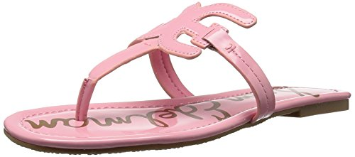Sam Edelman Women's Carter Flat Sandal, Pink Lemonade Patent, 11 M US (Designer Shoes Pink)