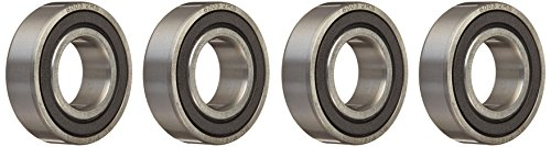Four (4) 6003-2RS Sealed Bearings 17x35x10 Ball Bearings / Pre-Lubricated (Pack of 4)