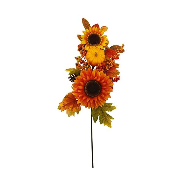 32″ Sunflowers and Pumpkin Spray – Pack of 6