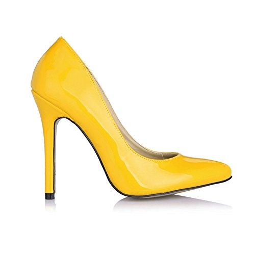 fait chaussures haut et grandes black Cliquez les femmes chaussures Yellow office chaussures Pearl de sur talon les sexy pearl femmes de xqz4If