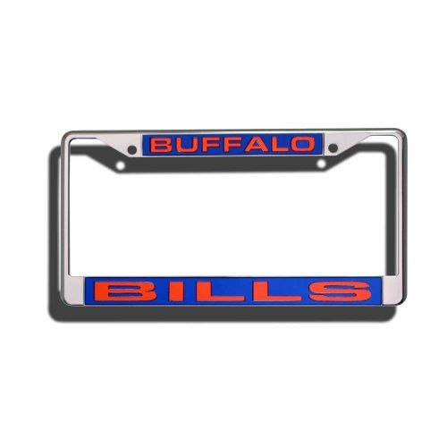 Rico Industries NFL Buffalo Bills Laser Cut Inlaid Standard Chrome License Plate Frame