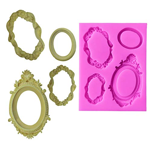 1 piece Silicone Form 1PC Mirror Frame Shape Cake Mold Chocolate Soap Moulds Cake Decorating Tools Kitchen Cake Baking Stencils]()