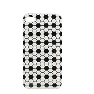 GJYStylish Football Pattern Hard Case for iPhone4 (White)