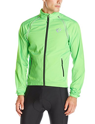 Woven Pearl - Pearl Izumi - Ride Men's Elite Barrier Convertible Jacket, Large, Screaming Green