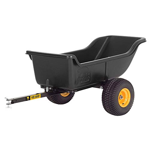 Polar Trailer 8232 HD 1200 Heavy Duty Utility and Hauling Cart, 84 x 45 x 31-Inch 1200 Lbs Load Capacity Rugged Wide-Track Tires Quick Release Tipper Latch Tilt & Pivot Frame, Black