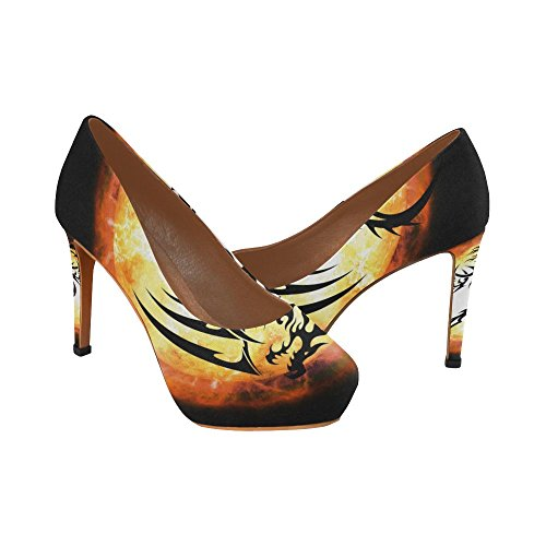 Genderprint Gender Womens Sexy Tacchi Alti Pump Shoes Dragon 2