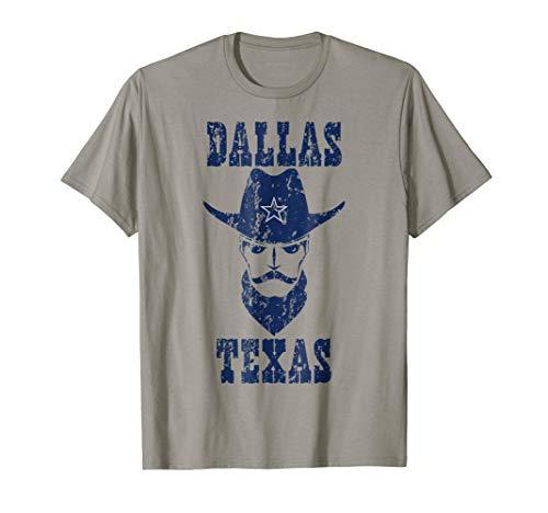 Vintage Dallas Texas Shirt Distressed Cowboys Hat T-Shirt